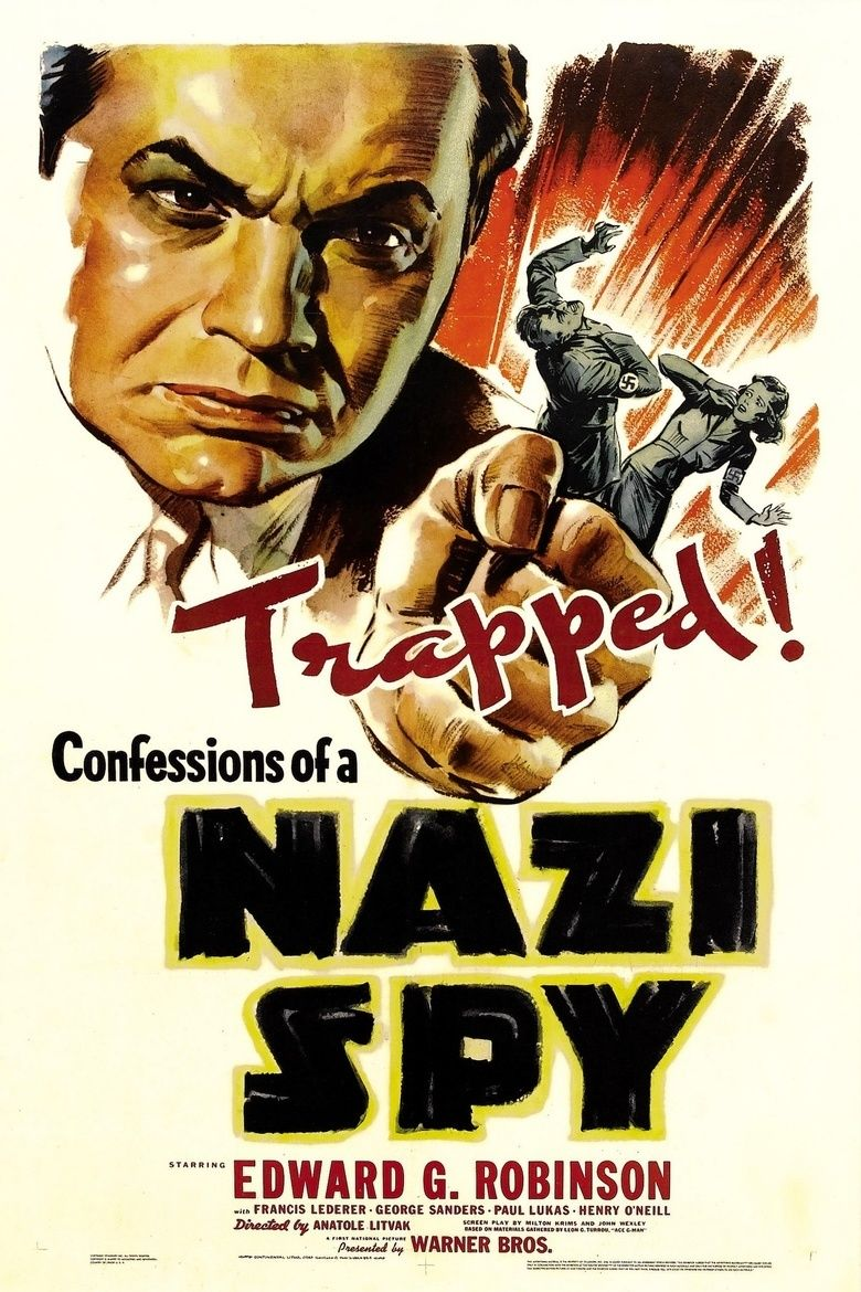 Confessions of a Nazi Spy movie poster