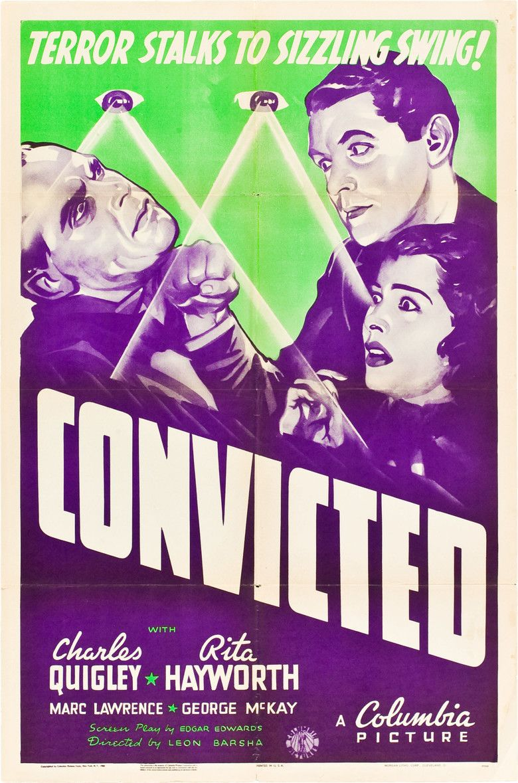 Convicted (1938 film) movie poster