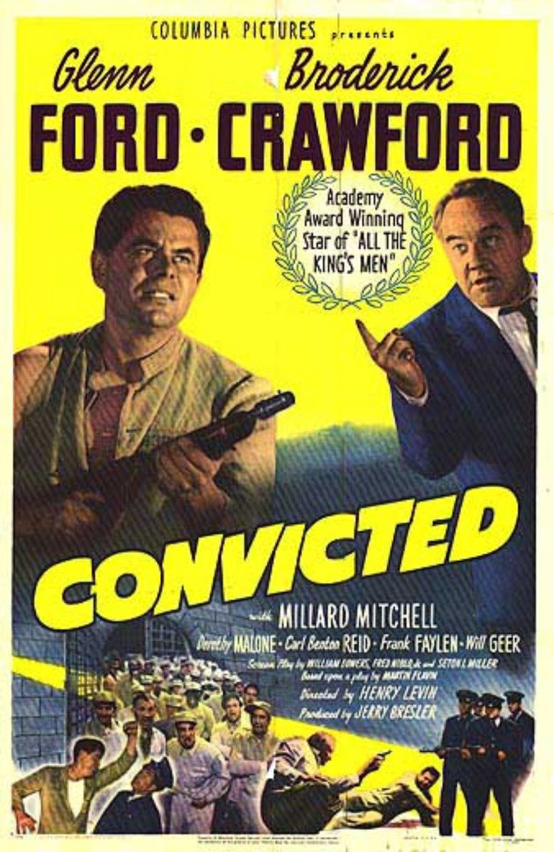 Convicted (1950 film) movie poster