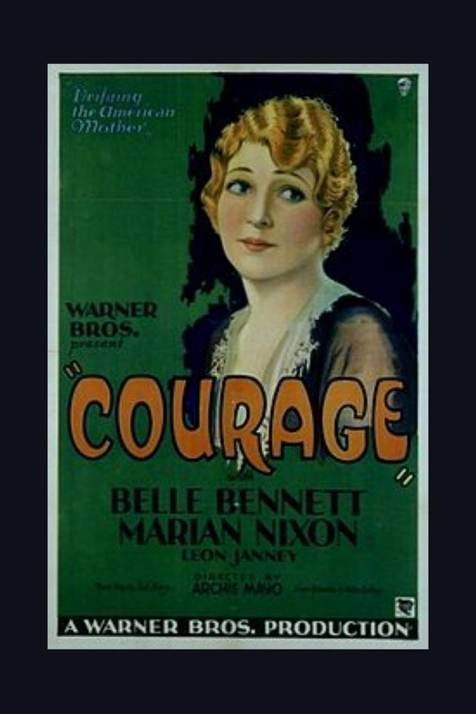 Courage (1930 film) movie poster