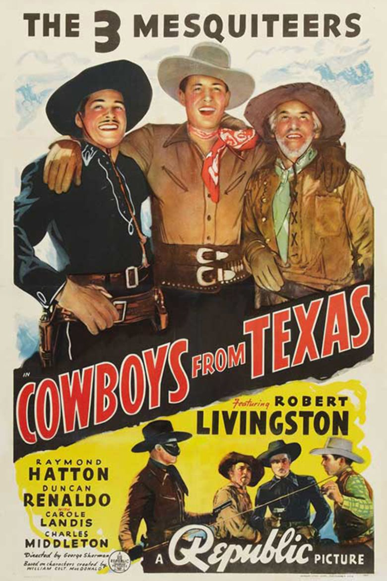 Cowboys from Texas movie poster