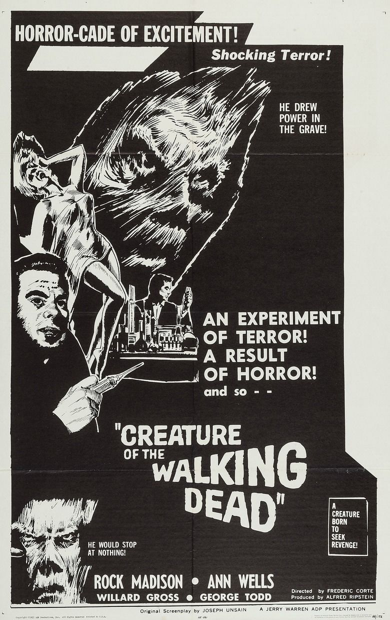 Creature of the Walking Dead movie poster