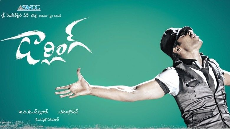 Darling (2010 film) Prabhas wearing a white shirt and black sleeveless blazer while doing stretched open hands post