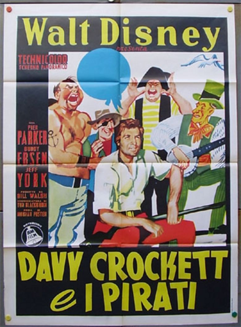 Davy Crockett and the River Pirates movie poster