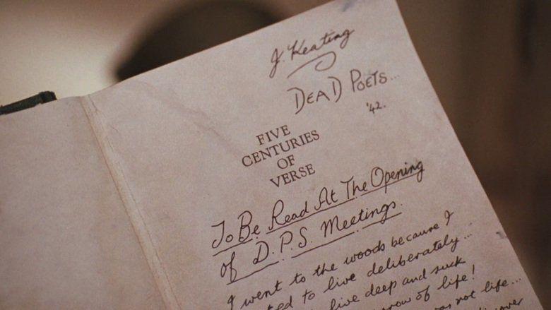 Dead Poets Society movie scenes