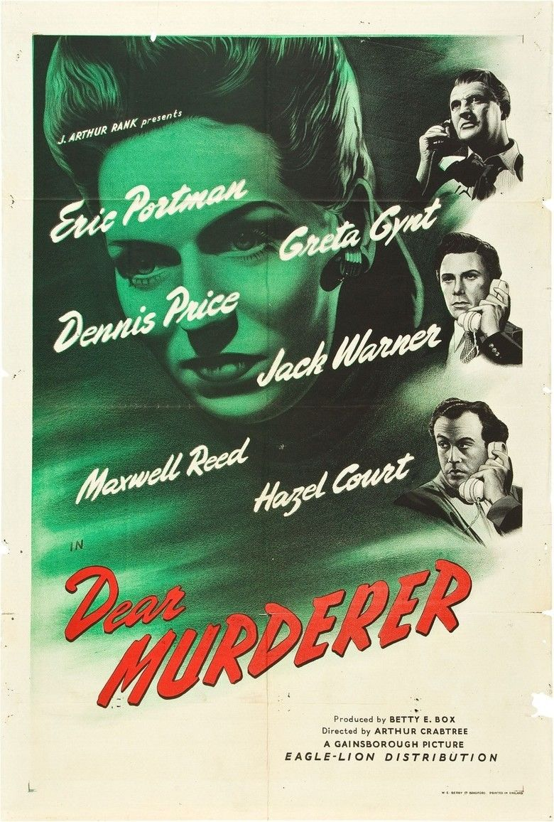 Dear Murderer movie poster