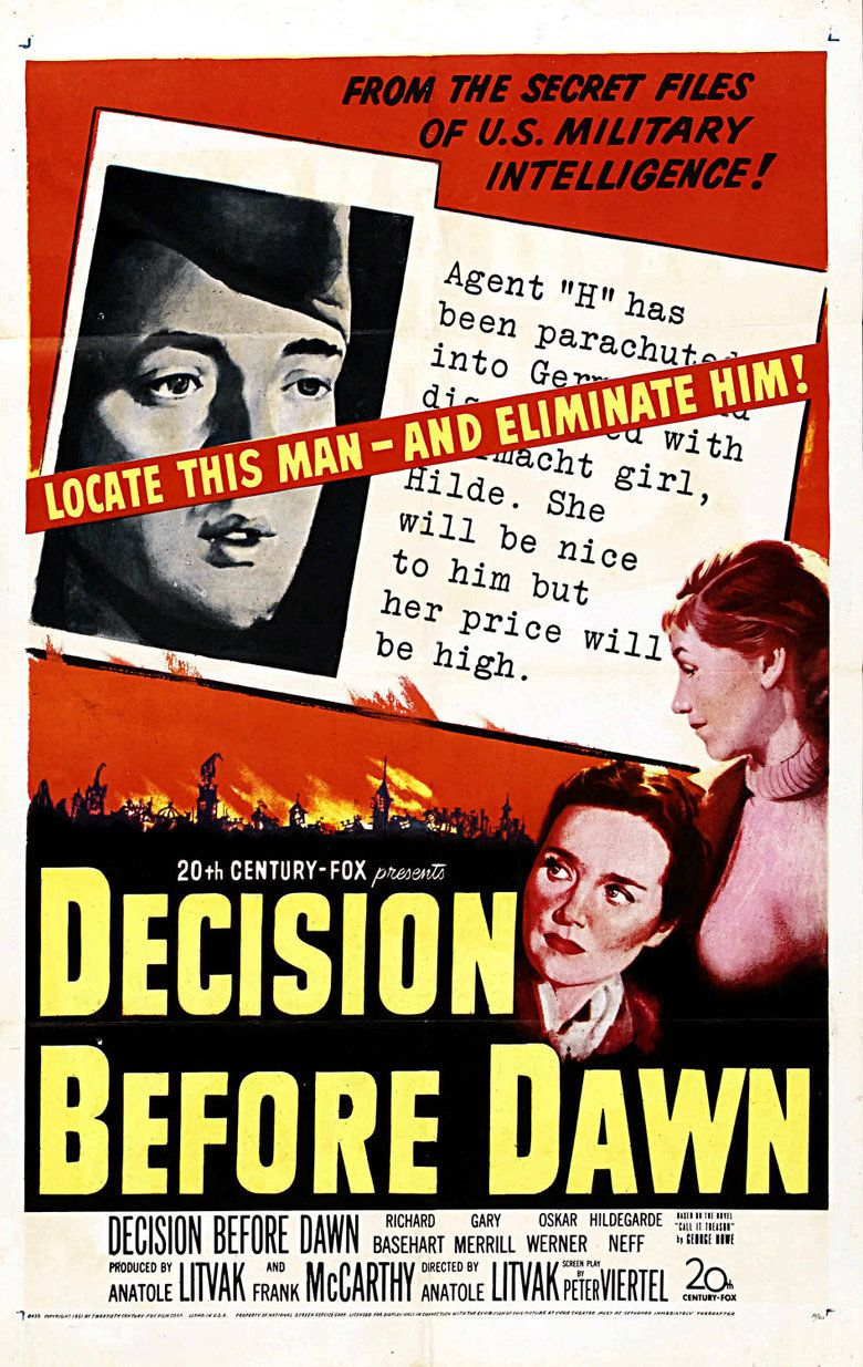 Decision Before Dawn movie poster