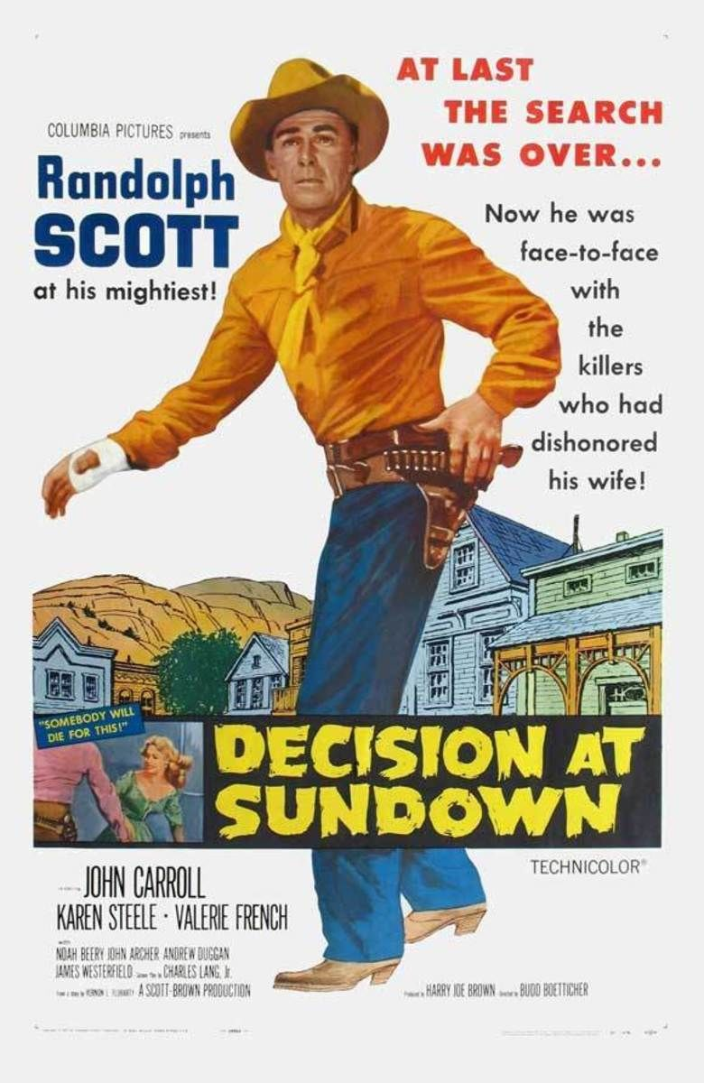 Decision at Sundown movie poster