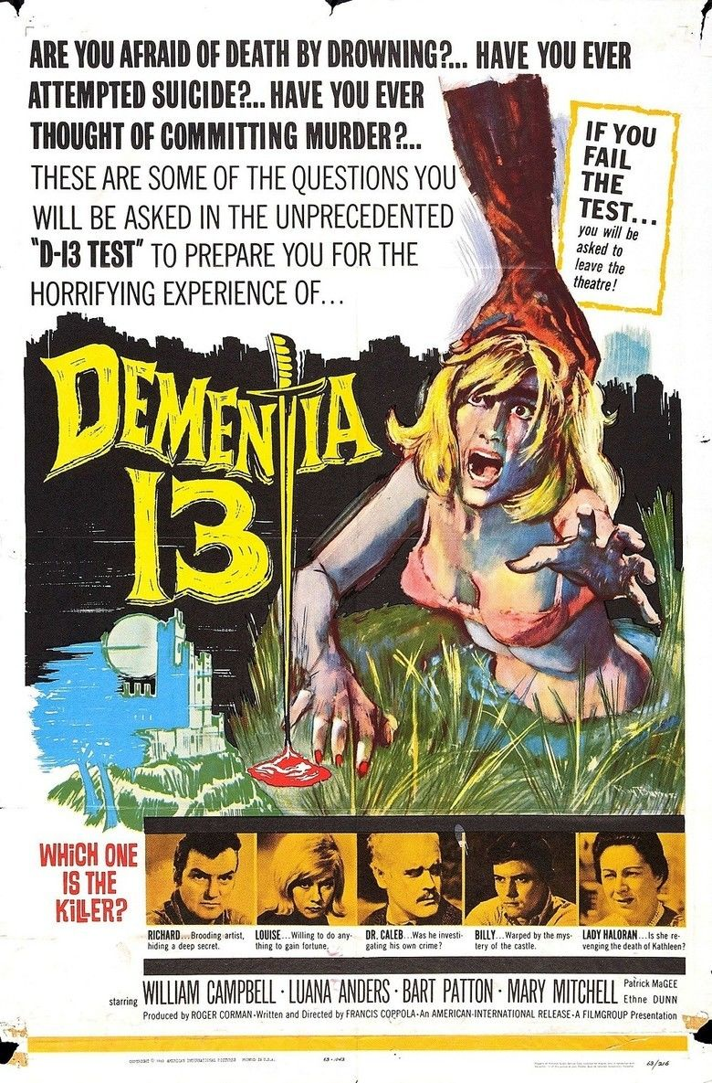 Dementia 13 movie poster