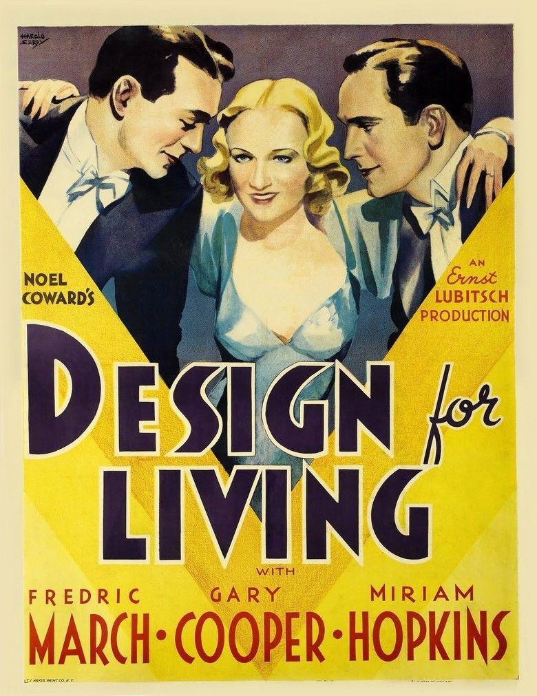 Design for Living (film) movie poster