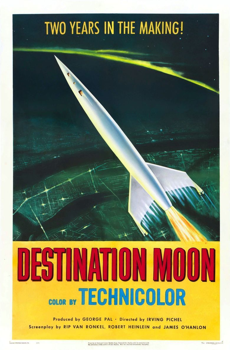 Destination Moon (film) movie poster