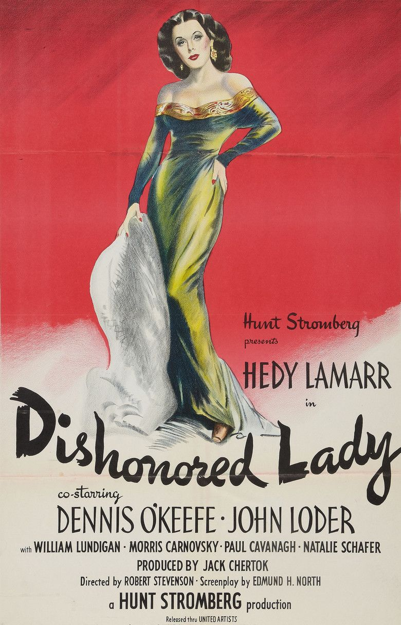 Dishonored Lady movie poster