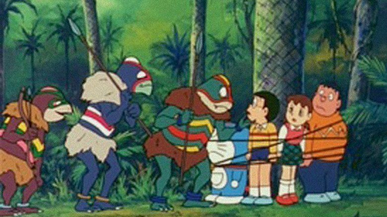 Doraemon: Nobita and the Knights on Dinosaurs movie scenes