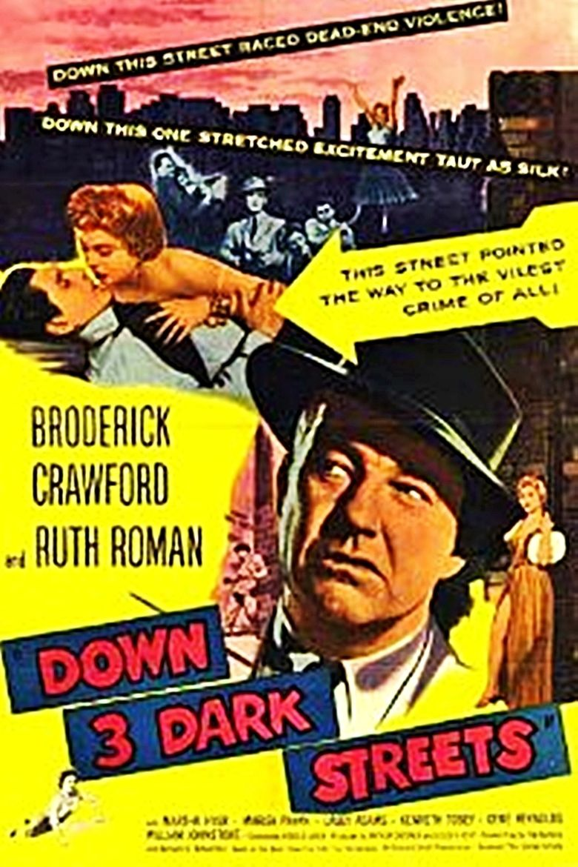 Down Three Dark Streets movie poster