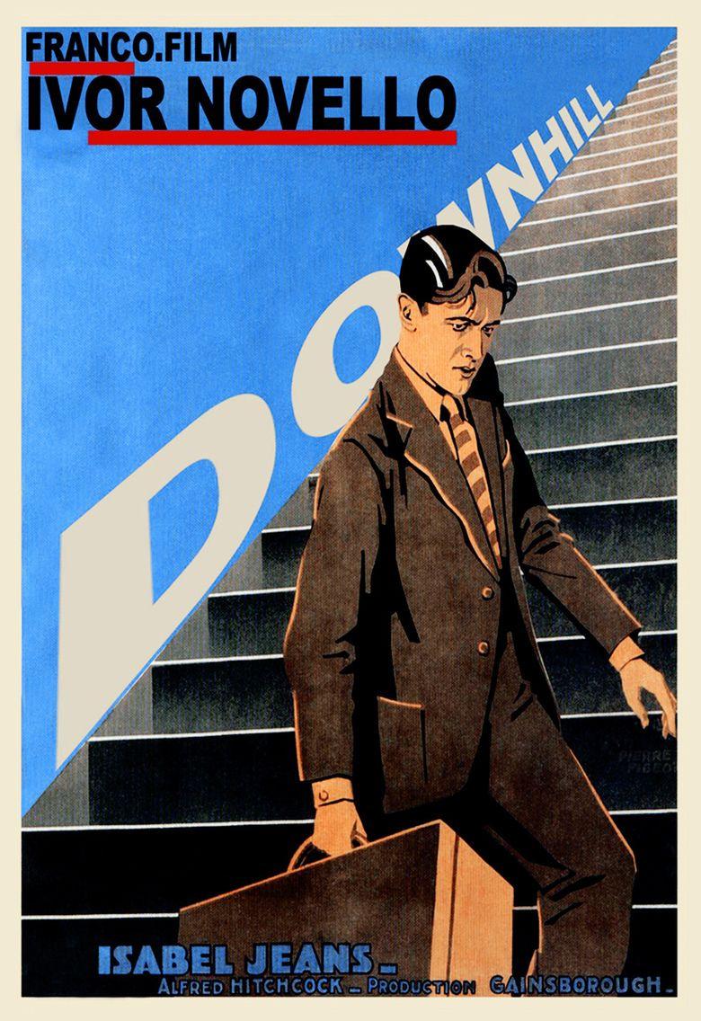 Downhill (1927 film) movie poster