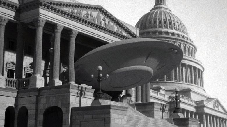 Earth vs the Flying Saucers movie scenes