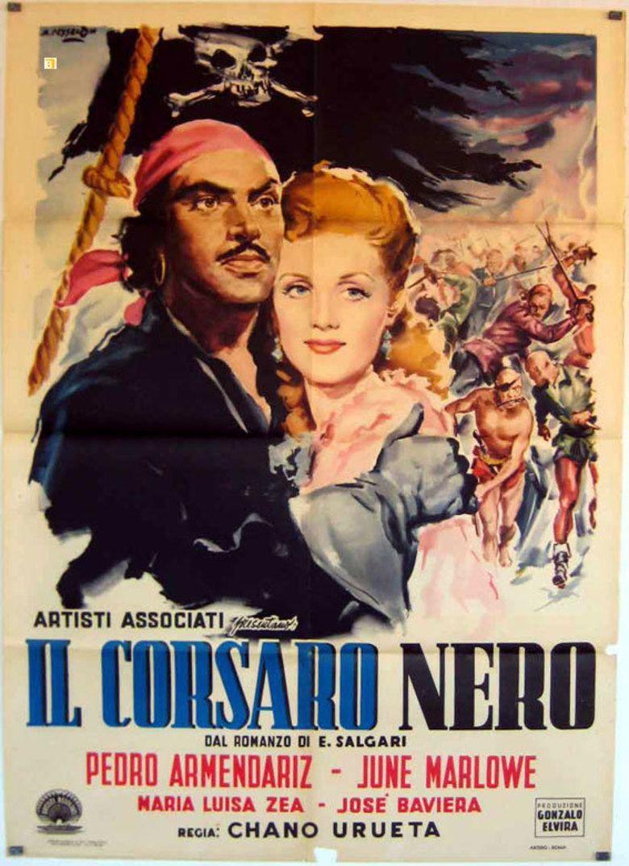 El corsario negro movie poster