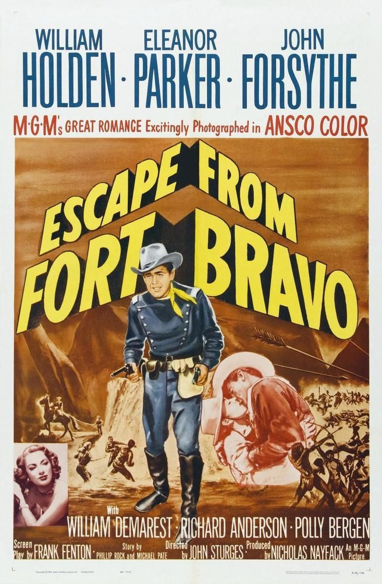 Escape from Fort Bravo movie poster