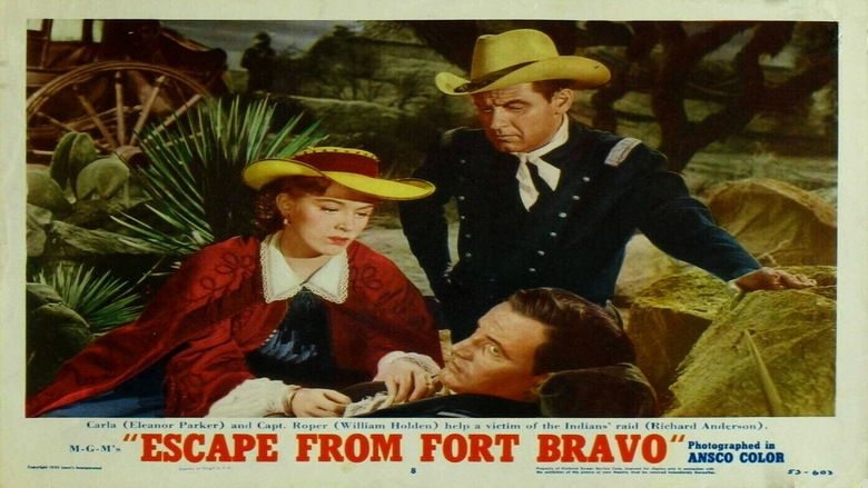 Escape from Fort Bravo movie scenes