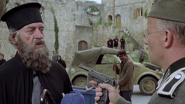 Escape to Athena movie scenes