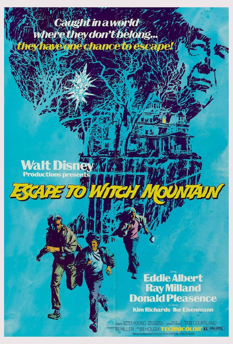 Escape to Witch Mountain (1975 film) movie poster