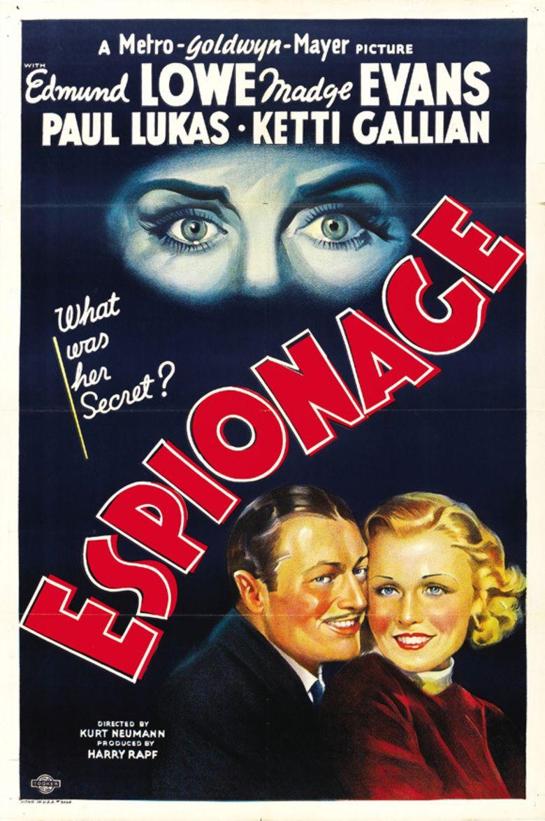 Espionage (film) movie poster