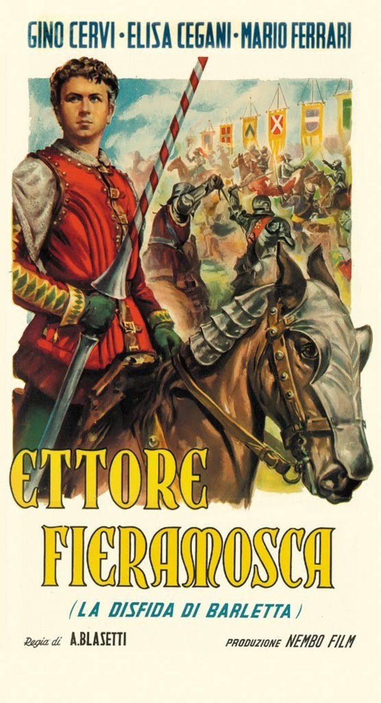 Ettore Fieramosca (1938 film) movie poster