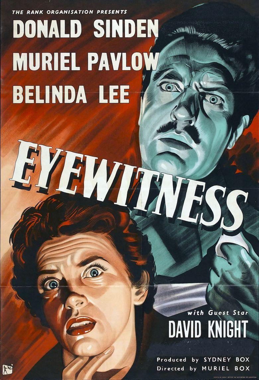 Eyewitness (1956 film) movie poster