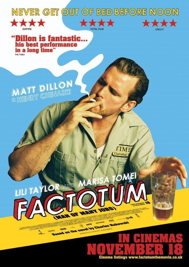 Factotum (film) movie poster
