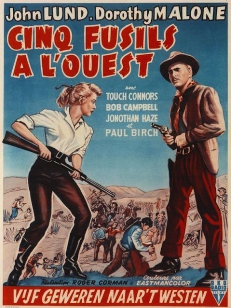 Five Guns West movie poster