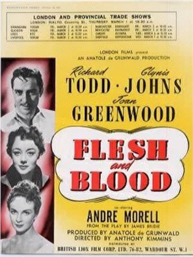 Flesh and Blood (1951 film) movie poster