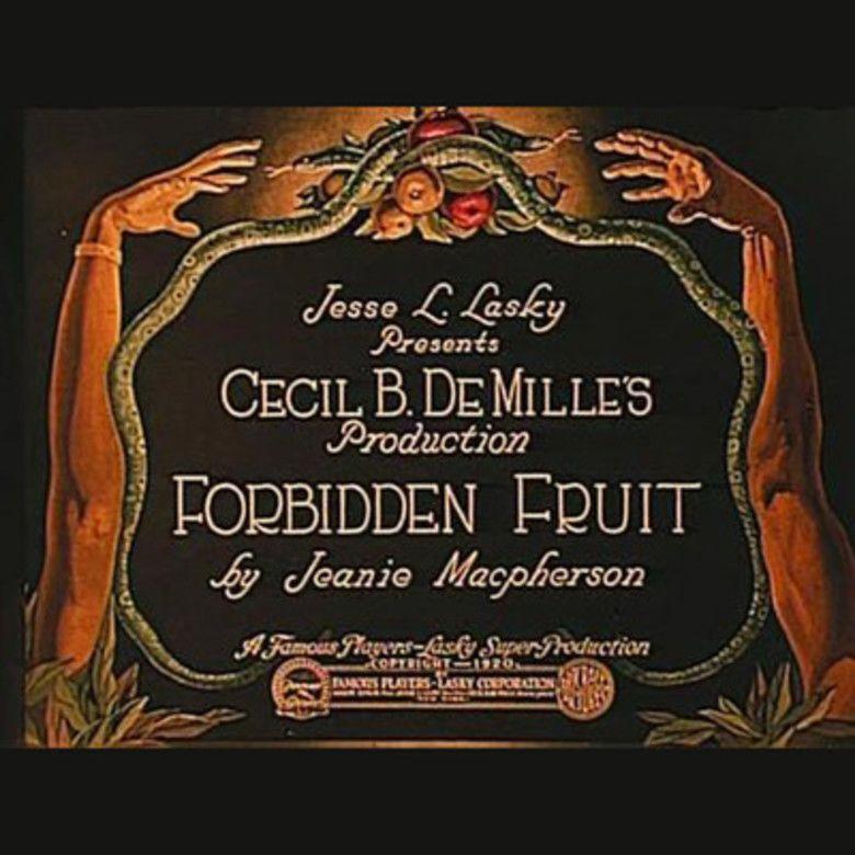 Forbidden Fruit (1921 film) movie poster