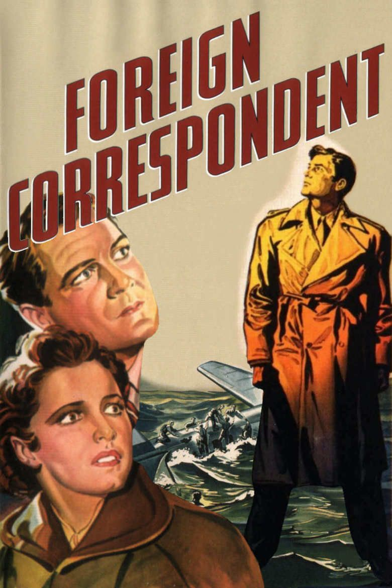 Foreign Correspondent (film) movie poster