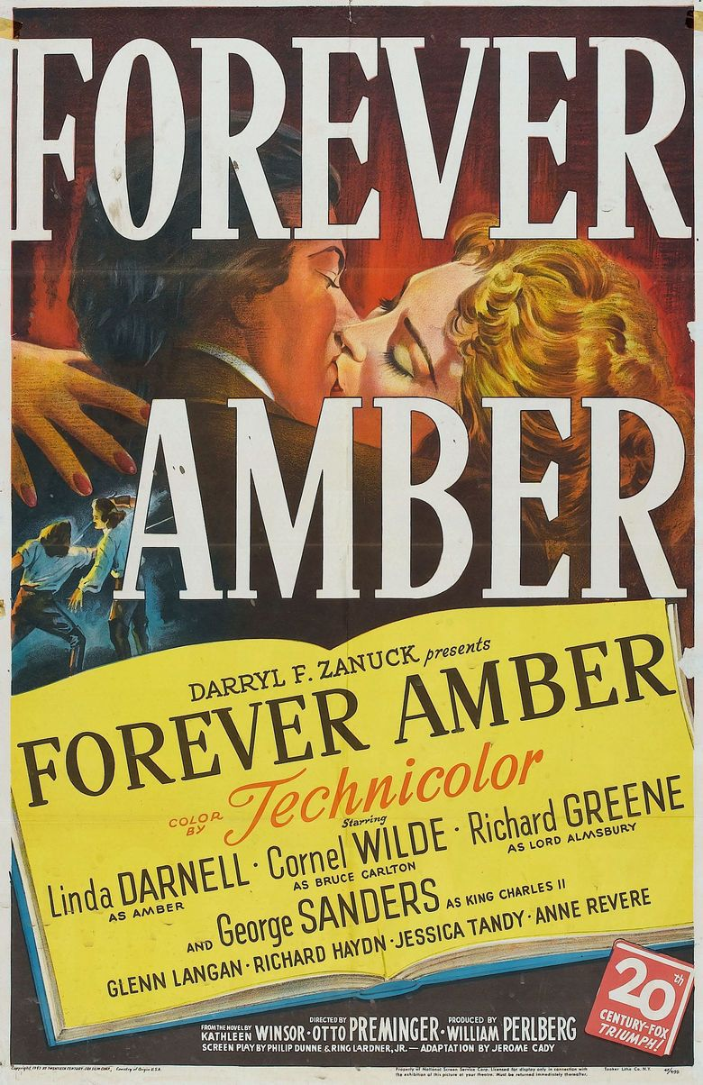 Forever Amber (film) movie poster
