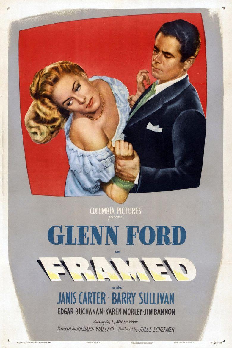 Framed (1947 film) movie poster