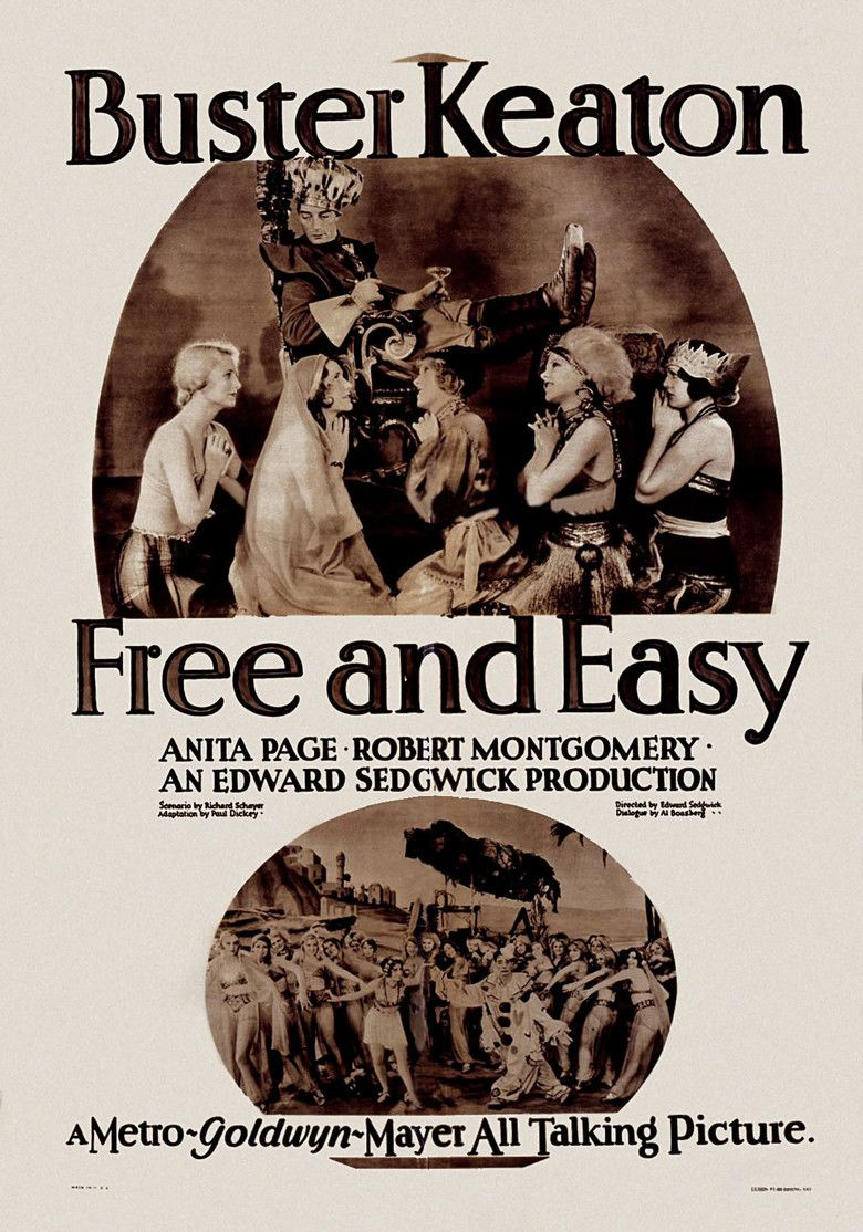 Free and Easy (1930 film) movie poster