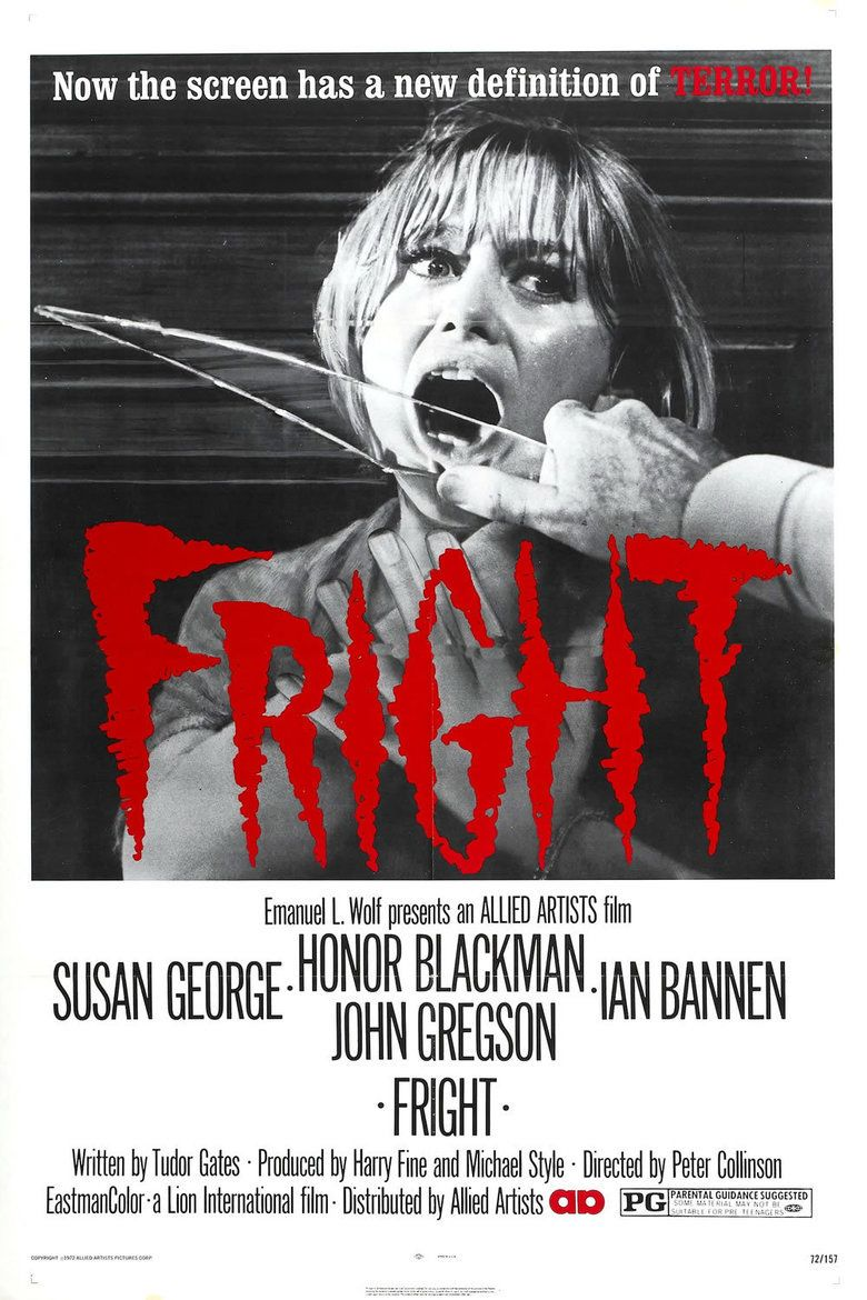 Fright (film) movie poster