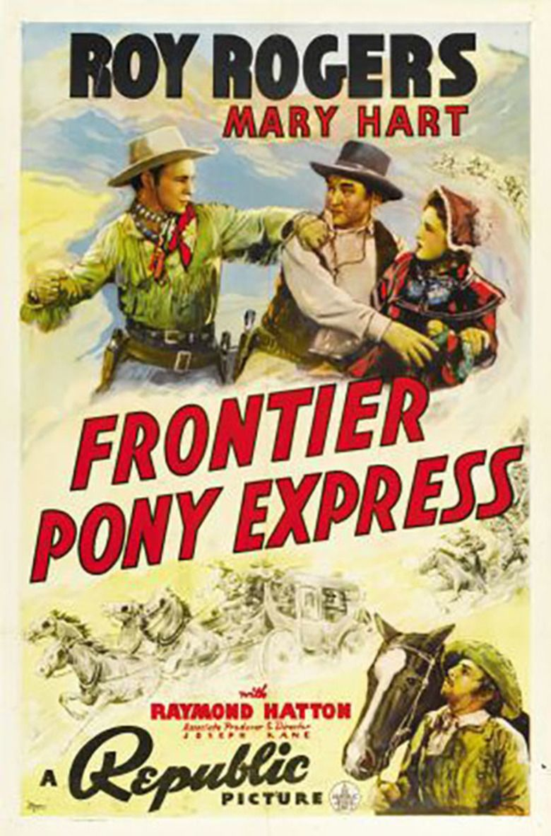 Frontier Pony Express movie poster