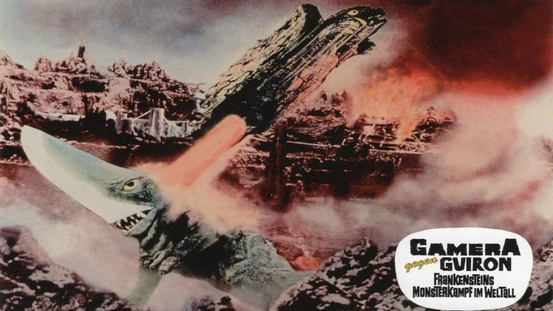 Gamera vs Guiron movie scenes