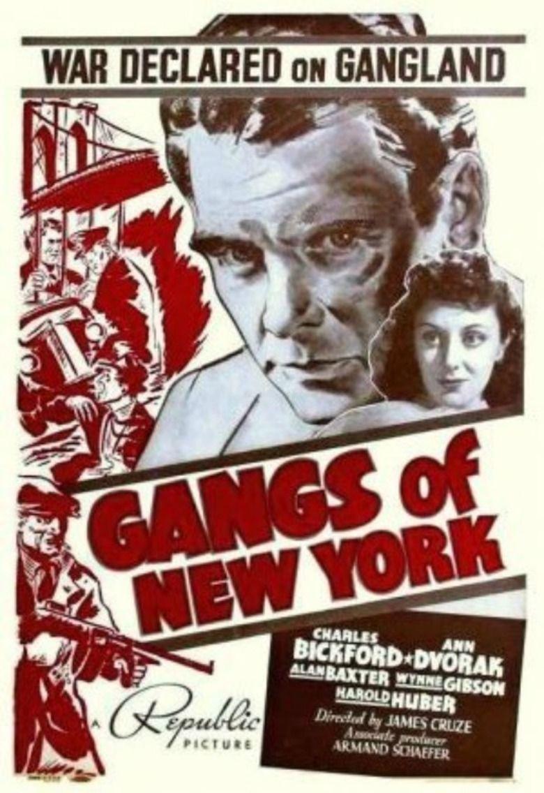 Gangs of New York (1938 film) movie poster