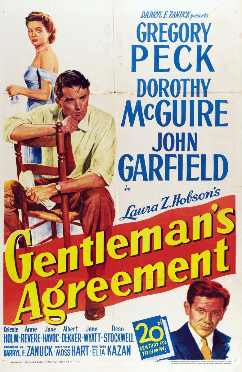 Gentlemans Agreement movie poster