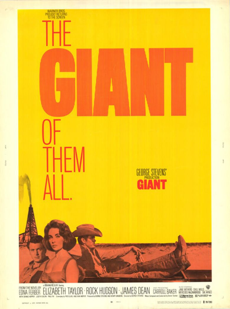 Giant (1956 film) movie poster