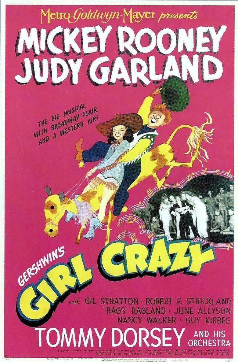 Girl Crazy (1943 film) movie poster