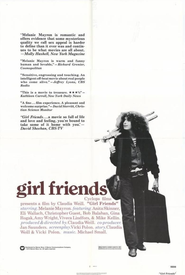 Girlfriends (1978 film) movie poster