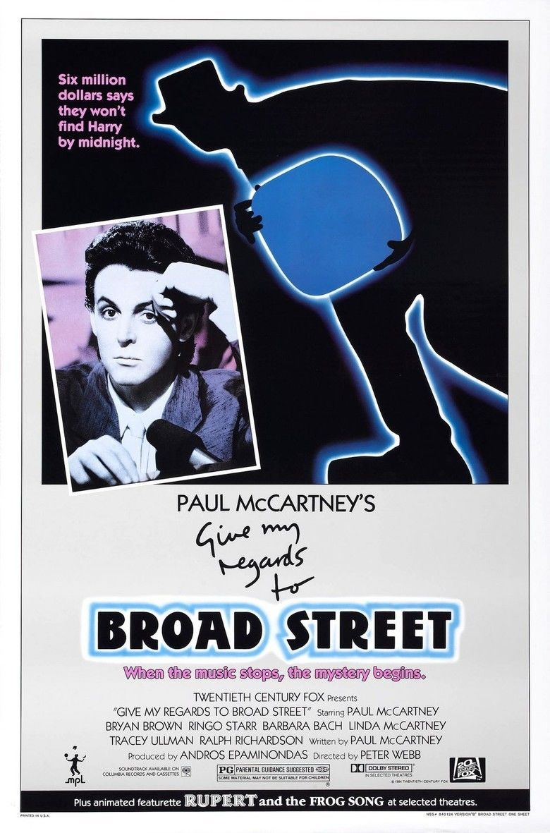 Give My Regards to Broad Street (film) movie poster