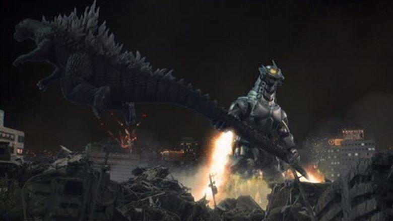 Godzilla Against Mechagodzilla movie scenes