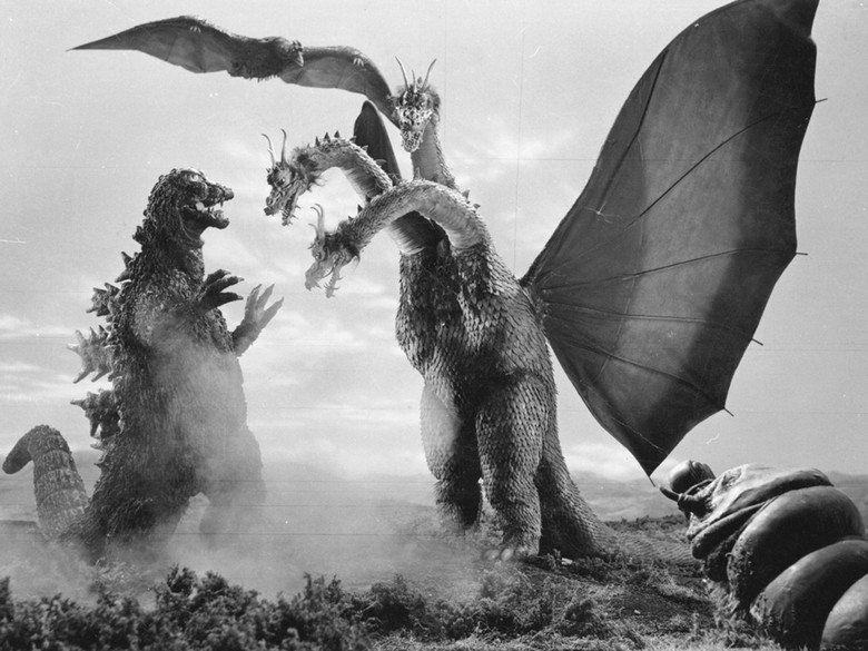 Godzilla vs King Ghidorah movie scenes