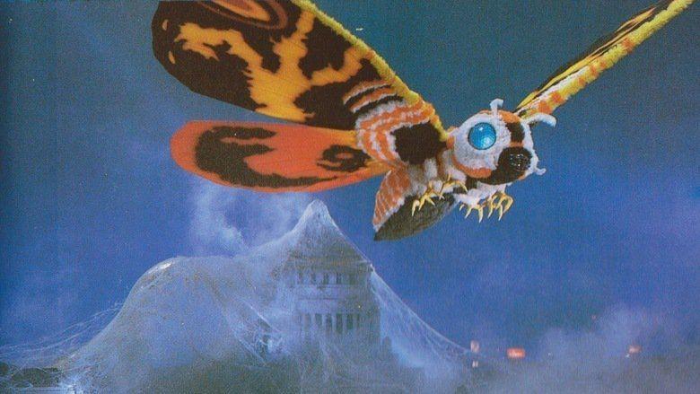 Godzilla vs Mothra movie scenes