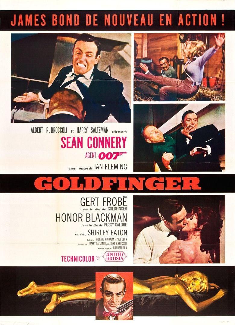 Goldfinger (film) movie poster