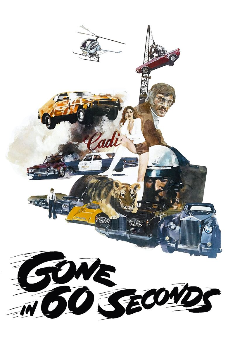 Gone in 60 Seconds (1974 film) movie poster